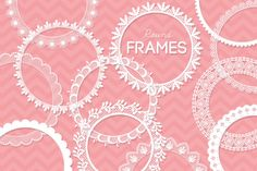 12 Round Lace Frames Clip Art I by AzmariDigitals on Creative Market