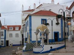 Old town Ericeira, Portugal - whitewashed houses Ericeira Portugal, Popular Holiday Destinations, Fishing Villages, Places Of Interest, Old Town, Day Trips, Places To Go, Surfing, Stairs