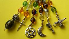 NEW Handbag/Mobile Charm  Pagan Wiccan Witch by RubysCharms