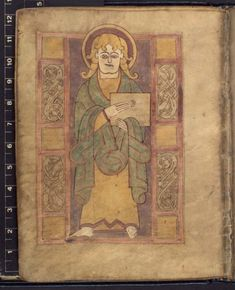 An eighth-century copy of the Four Gospels, made in Ireland and re-illuminated in tenth-century Canterbury or Winchester. Additional 40618, f.21v