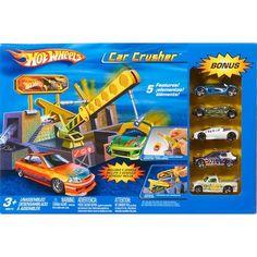 Hot Wheels Car Crusher Playset: Vehicles, Trains & Remote Control : Walmart.com