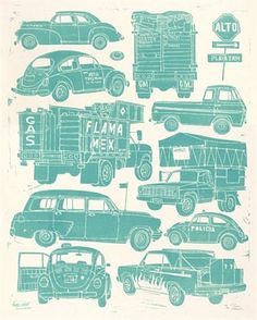 Mexico City Cars by Evan Hecox