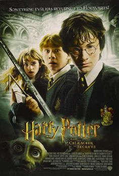 HARRY POTTER AND  THE CHAMBER OF SECRETS (2002): Harry ignores warnings not to return to Hogwarts, only to find the school plagued by a series of mysterious attacks and a strange voice haunting him.