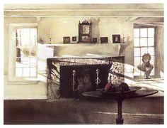 Big Room - Andrew Wyeth (1917-2009)