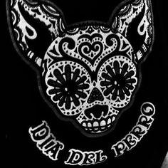 day of the dead dogs Chihuahua Tattoo, Chihuahua Art, Dog Tattoos, Body Art Tattoos, Dog Skull, Mexican Tattoo, Cigar Box Crafts, Day Of The Dead Party, Dead Dog