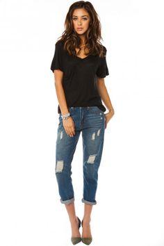 #tee #jeans #jewelry