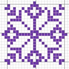 Knitting Charts, Knitting Stitches, Knitting Patterns, Loom Beading, Beading Patterns, Cross Stitch Patterns, Quilt Patterns, Motif Fair Isle, Snowflake Quilt