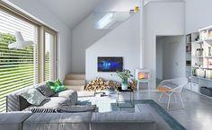 Ekonomiczny 2B - wizualizacja 3 - projekt małego domu z poddaszem użytkowym w typie nowoczesnej stodoły
