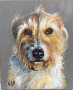 Custom pet portrait in acrylics