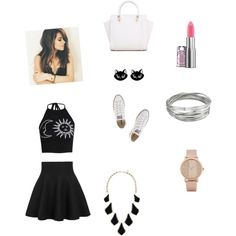 ? by saylorfashions on Polyvore featuring polyvore, fashion, style, Boohoo, Converse, Kendra Scott, Whistles and ALDO