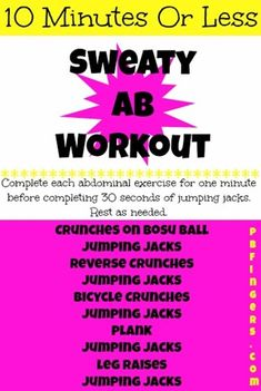 10 Minutes Or Less Ab Workout!