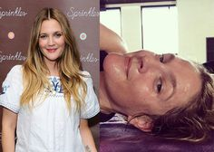 Drew Barrymore bares it all in sweaty make-up free selfie post-yoga