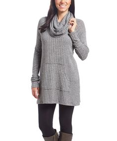 Another great find on #zulily! Gray Cowl Neck Tunic #zulilyfinds