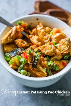 """Quick and easy Instant Pot Paleo Kung Pao Chicken is delicious and tastes better than takeout – in less time than it takes to order! Paleo and Whole 30 compliant.  One of my favorite things to eat from takeout is Kung Pao Chicken – it's a little spicy, a little salty, and bursting with … Continue reading """"Instant Pot Paleo Kung Pao Chicken"""""""