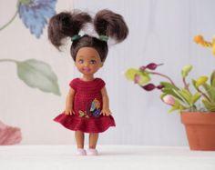 4 pollici bambola in miniatura all'uncinetto di Creativhook