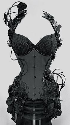 Deadly Nightshade Corset- By Royal Black Corsetry