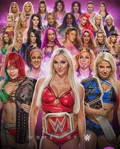 WWE Wrestling Womens Champions. Wrestler Divas from Raw and SmackDown and the whole WWE Universe. Charlotte Flair, Sasha Banks, Bayley, Alexa Bliss, Becky Lynch, Asuka, Paige, Carmella, Ronda Rousey and many more.