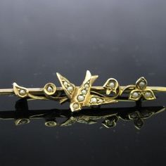 #Antique #Edwardian 9K #Gold #Brooch #Jewelry #The #Antiques #Room #Galway #Ireland Diamond Rings, Diamond Engagement Rings, Galway Ireland, Gold Brooches, Selling Antiques, Pearl Jewelry, Unique Vintage, Brooch Pin, Jewellery