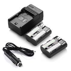 2 PACK BP-511A Battery + Charger for Canon 10D 20D 30D 300D 40D 50D 5D BP-512 #DBK