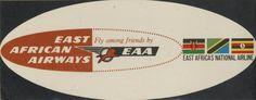 East African Airways Luggage Label