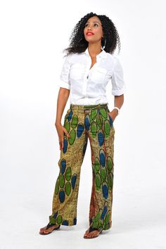 African Print Pants by Bongolicious1 ~African Prints, African women dresses, African fashion styles, african clothing