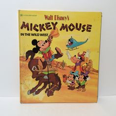 Vintage 1st Edition Walt Disney's Mickey Mouse and the Wild West, Ex Condition Golden Book, Super Clean and Collectible, Cowboy Mickey by LOVELADYBIRDVINTAGE on Etsy