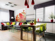 Optymistyczne 55-metrowe mieszkanie w Krakowie