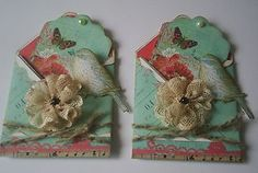 little tweets crafts on ebay... cute lace flowers, I've made some like this too...