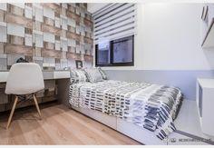 浩瀚大學漾_現代風設計個案—100裝潢網 Furniture, Decor, Home Decor, Bed