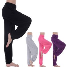 Women'S Soft Bamboo Yoga Pants Workout Gym Sportwear Athletic Bloomers Pants