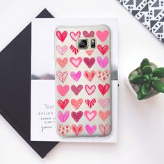 Many Hearts Android transparent - Classic Snap Case #android #case #semi-transparent #valentines #bohochic #pinks #hearts #bohemian #trendy #boho #chic #luxury #fancy #woman  #accesories #girly #samsung #heaven7 #casetify