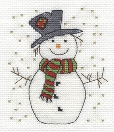 DMC Free Cross Stitch Patterns - Snowman