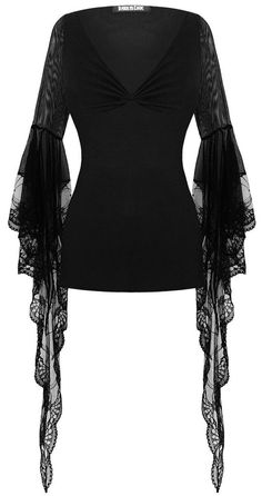 Punk Rave Lace Sleeve Top