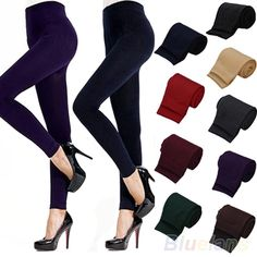 Fitness High Street Lady Womens Winter Warm Skinny Slim Stretch Thick Footless Leggings 0JPH