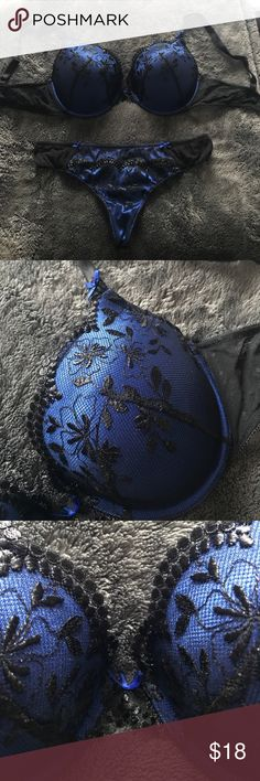 Adore Me Lingerie GORGEOUS Bra and Panty set! Never worn, didn't fit me .  Bra is 36D and matching thong is a Medium. FREE matching VS Thong with purchase! Adore Me Intimates & Sleepwear Bras