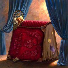 Vladimir Kush Red Book Sleep Surreal Art via liveinternet.ru