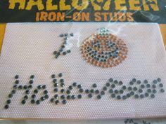 Halloween Pumpkin Iron On Studs Patch by jansbeads on Etsy, $6.00 #diy #halloweencrafts #halloweenartistbazaar