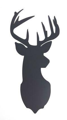 Features the look of a black deer head silhouette. Hirsch Silhouette, Deer Head Silhouette, Silhouette Painting, Animal Silhouette, Reindeer Silhouette, Deer Drawing Easy, Easy Drawings, Deer Wall Art, Deer Head Decor