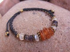 iolite & sun stone bracelet