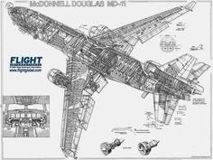 The McDonnell Douglas MD-11 is athree-enginemedium- to long-rangewidebodyjet airliner, manufactured byMcDonnell Douglasand, late...