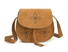 Vintage Women's Crossbody Bag With Tassels and Bordered Design (LIGHT BROWN) | Sammydress.com