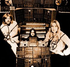 Tangerine Dream.  THESE are the guys that started it all.  The Berlin School, Krautrock....whatever you want to call it, these guys started doing it. From Germany and on the left you have Edgar Froese, Christophe Franke and I believe on the right is Klaus Schulze. These guys influenced soooooo many that came after them.