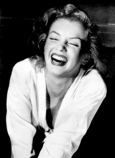 Marilyn Monroe. My favorite pictures are ones like this, where she looks totally happy.