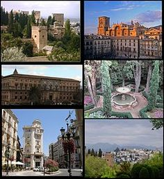 Granada. Located in Andalucia. It features La Alhambra, which was one of the places in the running for New Wonders of the World, among other beautiful historical places. {I studied in Universidad de Granada for a short period but I remember this city rather well. Best place in the world to me.}
