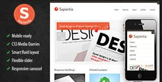 Sapentia: responsive HTML/CSS Template.  Mobile ready, CSS Media Queries, smart fluid layout, flexible slider, responsive carousel. #creative #portfolio #template #theme #css #html #template #site
