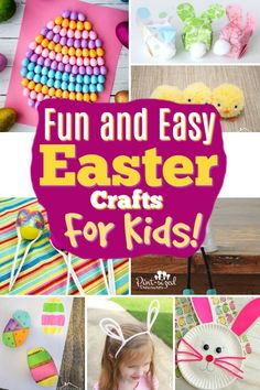 These Easter crafts for kids are so fun! They are the best Easter crafts for kids of all ages! Rabbit Crafts, Bunny Crafts, Easter Activities, Craft Activities, Spring Activities, Preschool Ideas, Toddler Activities, Craft Ideas, Easter Crafts For Kids