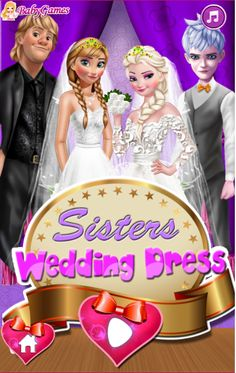 SISTERS WEDDING DRESS  http://playfrozengames.com/frozen-games/sisters-wedding-dress