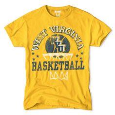 West Virginia Mountaineers Basketball Tee
