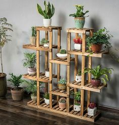 Beautiful Diy Plant Stand Ideas To Fill Your Home With Greenery 1 Wooden Plant Stands, Diy Plant Stand, Indoor Plant Stands, Indoor Plant Shelves, Indoor Plants, Indoor Outdoor, Hanging Plants, Indoor Garden, House Plants Decor