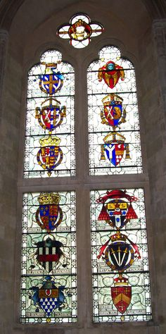 Winchester Castle, Great Hall stained glass windows.